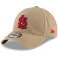 Men's St. Louis Cardinals New Era Khaki Core Classic Secondary 9TWENTY Adjustable Hat
