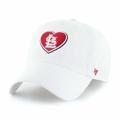 St. Louis Cardinals '47 WOMEN'S White & Red Heart Logo Clean Up Adj. Hat Cap