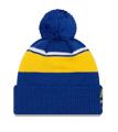 New Era Golden State Warriors Call Out Cuff Pom Knit Beanie Hat/Cap