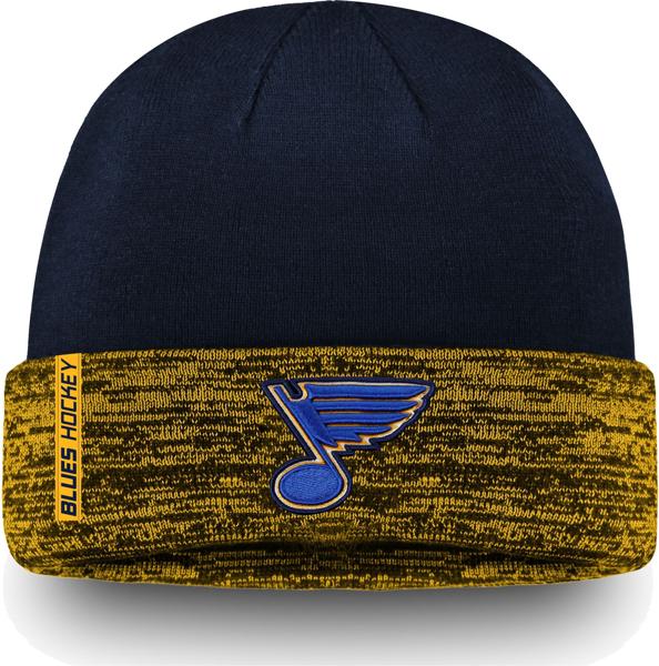 NHL Men's St. Louis Blues Authentic Pro Rinkside Goalie Navy Cuffed Knit Beanie