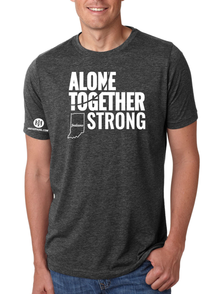 Indiana Alone Together Stay Strong Next Level Tee