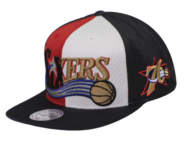Picture of Philadelphia 76ers Mitchell & Ness Division Home Snapback