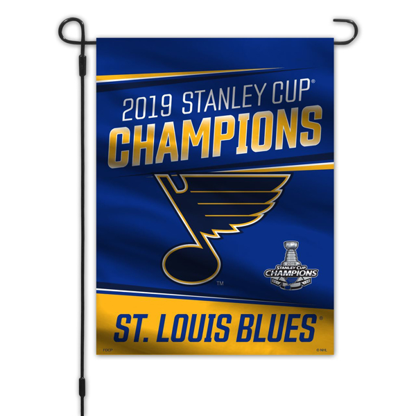 St. Louis Blues Freemont Die 2019 Stanley Cup Final Champions Series Garden Flag