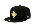 Men's Toronto Raptors New Era Black/Gold 2019/20 Alternate City Edition On Court 9FIFTY Snapback Adjustable Hat