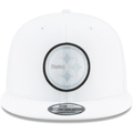 Men's New Era White Pittsburgh Steelers 2019 NFL Sideline Platinum 9FIFTY Snapback Adjustable Hat