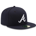Atlanta Braves New Era Road Authentic Collection On-Field 59FIFTY Fitted Hat - Navy