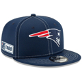 New Era Navy New England Patriots 2019 NFL Sideline Road 9FIFTY Snapback Adjustable Hat