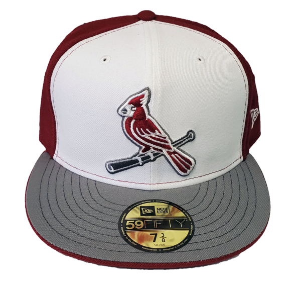St. Louis Cardinals Custom Bird Maroon/Grey New Era Fitted Cap
