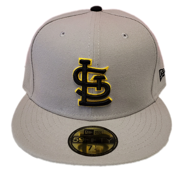 St. Louis Cardinals Custom Grey/Black/Yellow New Era Fitted Cap