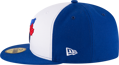 Men's Toronto Blue Jays New Era White/Royal 2017 Alternate Authentic Collection On-Field 59FIFTY Fitted Hat