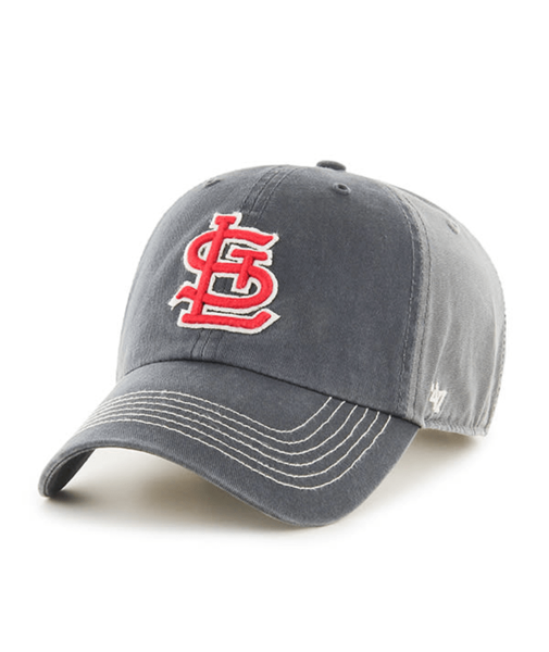 St. Louis Cardinals Cooperstown Cronin 47 Brand Vintage Charcoal Adjustable Hat