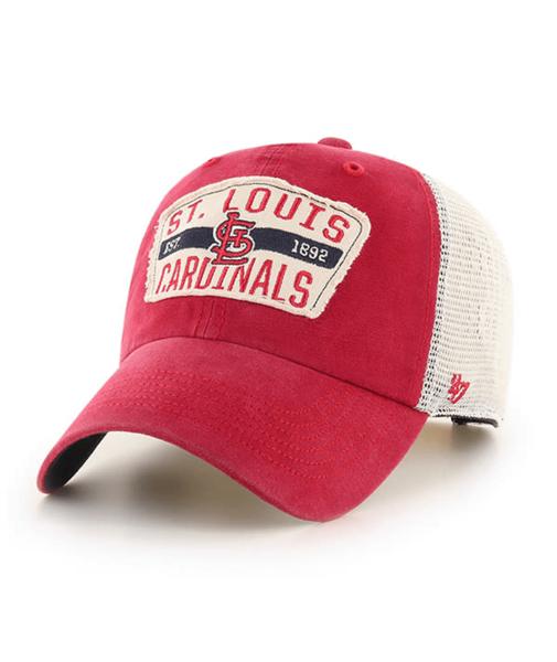 St. Louis Cardinals 47 Brand Vintage Red Crawford Clean Up Adjustable Hat