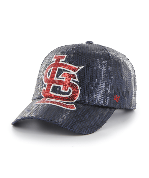 Women's St. Louis Cardinals '47 Navy Dazzle Clean Up Adjustable Trucker Hat