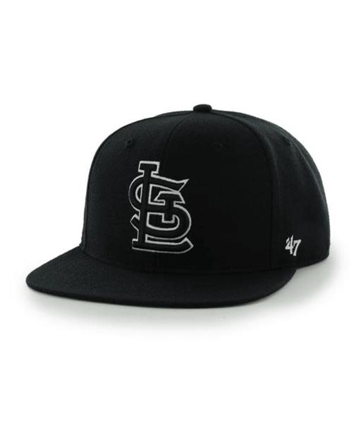 St. Louis Cardinals 47 Brand Black Sure Shot Captain Adjustable Hat