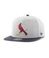 Men's St. Louis Cardinals '47 Grey/Black Script Sure Shot Snapback Adjustable Hat