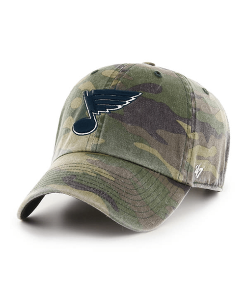 St. Louis Blues Black Camo 47' Brand Cleanup Adjustable Cap