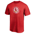 Men's St. Louis Cardinals Fanatics Branded Red True Classics Throwback Logo Tri-Blend T-Shirt