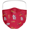 St. Louis Cardinals Fanatics Branded Adult All Over Logo Face Covering 3-Pack