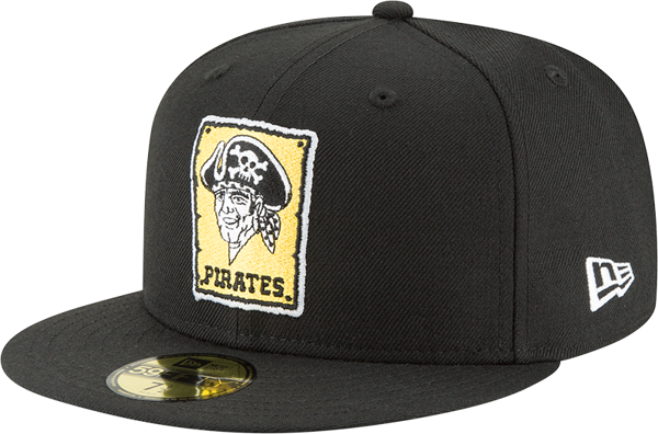 Pittsburgh Pirates New Era Cooperstown Collection Wool 59FIFTY Fitted Hat - Black