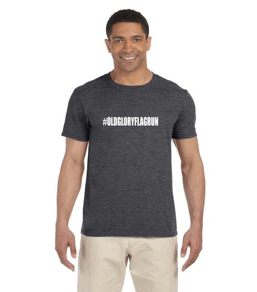 Old Glory Flag Run Adult Softstyle® 4.5 oz. T-Shirt