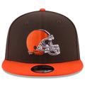 Men's Cleveland Browns New Era Brown/Orange Basic 9FIFTY Adjustable Snapback Hat