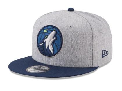 Minnesota Timberwolves New Era 2Tone 950 Snapback Hat - Heather Gray