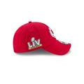 Men's Kansas City Chiefs New Era Red Super Bowl LV Bound Side Patch 920 hat