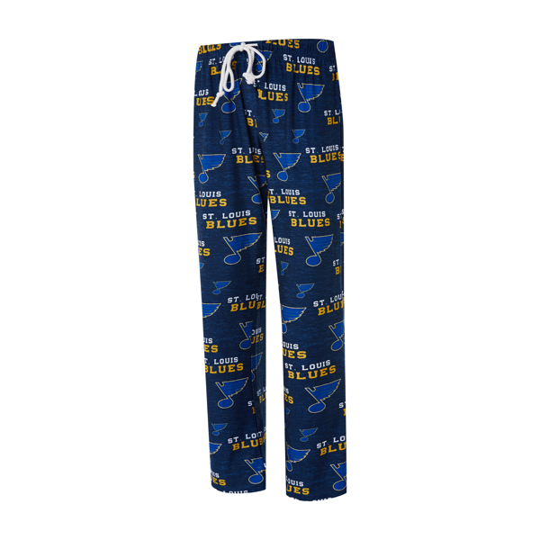 St Louis Blues Womens Navy Blue Zest Loungewear Sleep Pants