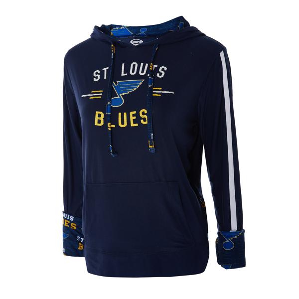 St. Louis Blues Ladies Zest Knit Hoodie by College Concepts