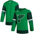 Men's St. Louis Blues adidas Green 2020 St. Patrick's Day Jersey
