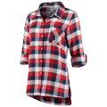Women's St. Louis Cardinals Concepts Sport Red/Navy Breakout Flannel Long Sleeve Nightshirt