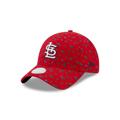 Women's St. Louis Cardinals New Era Red Floral  9TWENTY Adjustable Hat