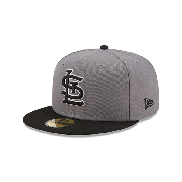 New Era St. Louis Cardinals Men's Grey/Black 2T 59FIFTY Fitted Hat