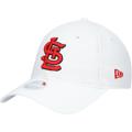 Women's St. Louis Cardinals New Era White Core Classic II 9TWENTY Adjustable Hat