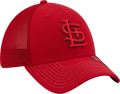 New Era St Louis Cardinals Red Pop Visor 39THIRTY Flex Hat
