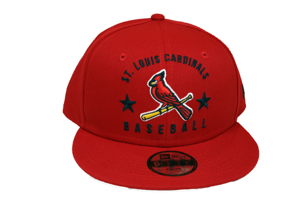 St. Louis Cardinals New Era Youth 2020 Arched Snapback  950 Hat - Red