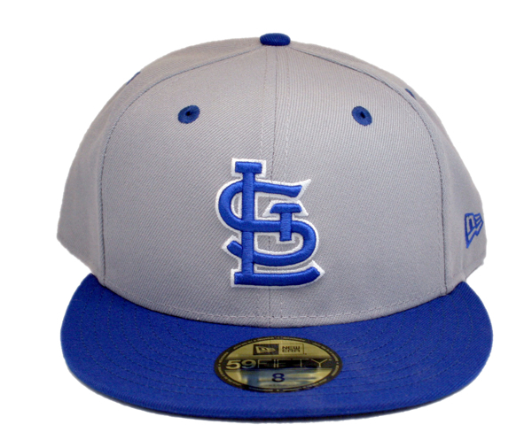 St. Louis Cardinals Custom  Snow White Blue Grey Royal Blue 5950 Fitted Cap by Headz n Threadz