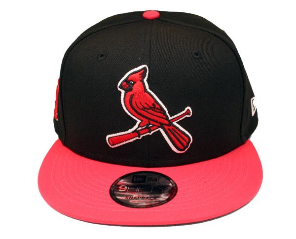 St. Louis Cardinals Custom Lava Pink/Black New Era 5950 Snapback Cap