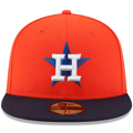 Houston Astros New Era Alternate Authentic Collection On-Field 59FIFTY Fitted Hat - Orange/Navy