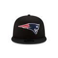 Men's New England Patriots New Era Black Basic 9FIFTY Adjustable Snapback Hat