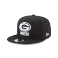 Green Bay Packers New Era Black B-Dub 950 Snapback Hat