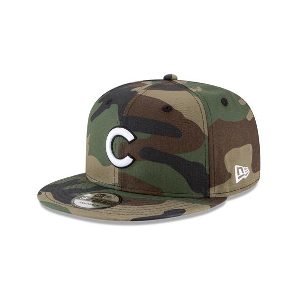 Men's Chicago Cubs New Era Camo Basic 9FIFTY Snapback Hat