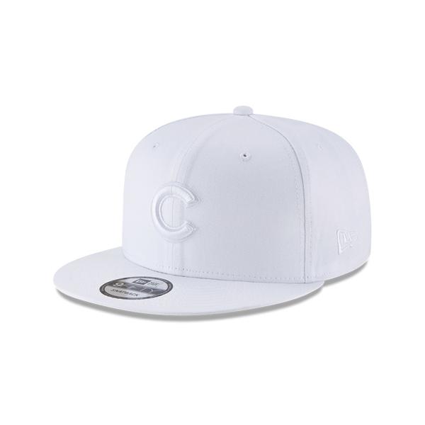 Chicago Cubs New Era Basic 9FIFTY Adjustable Snapback Hat - White
