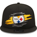 Pittsburgh Steelers New Era Logo Tear 9FIFTY Snapback Hat - Black