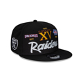 Las Vegas Raiders New Era Super Bowl Retro Script 9FIFTY Snapback Hat – Black