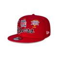 Men's San Francisco 49ers New Era Green Super Bowl Retro Script 9FIFTY Snapback Hat