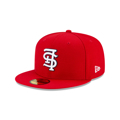 Men's St. Louis Cardinals New Era Red Upside Down 59FIFTY Fitted Hat
