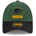 Men's Green Bay Packers New Era Green/Black 2021 NFL Sideline Road 9FORTY Adjustable Hat