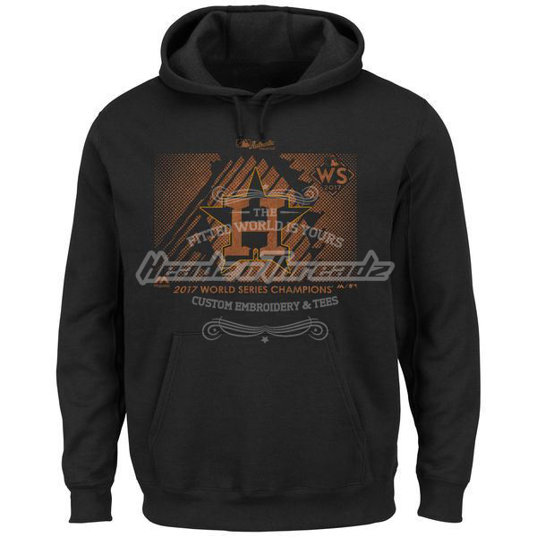 Picture of Men's Houston Astros Majestic Black 2017 World Series Champions Parade Pullover Hoodie