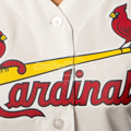 Picture of Women's St. Louis Cardinals Majestic White Home Cool Base Jersey